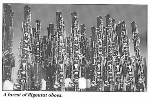 A forest of Rigoutat oboes.