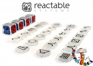 Reactable Live cubes and dibs